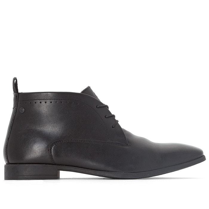 Boots cuir farthing noir Base London