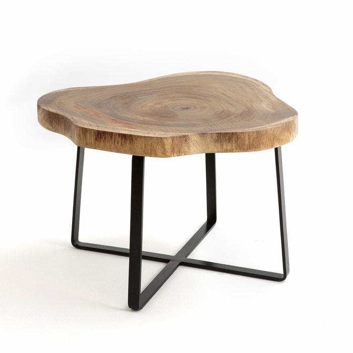 Sicamor acacia side table am pm la redoute - Table basse la redoute ampm ...