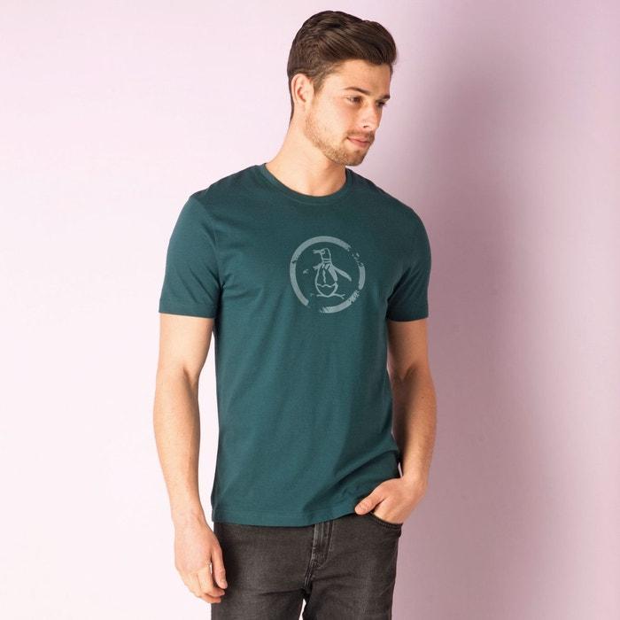 T shirt distressed circle logo pour hommes sarcelle original penguin la redoute - T shirt original homme ...