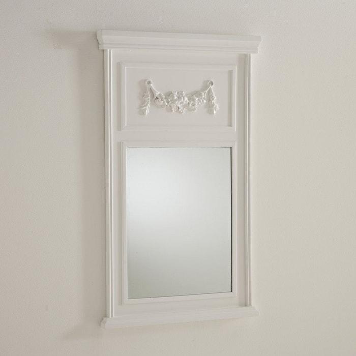 Miroir trumeau medio blanc la redoute interieurs la for Miroir trumeau blanc