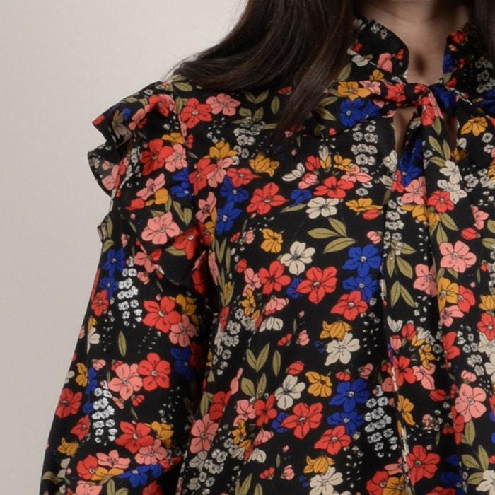 flores con de chalina con Blusa GABRIELLE cuello estampado UZ8OOa
