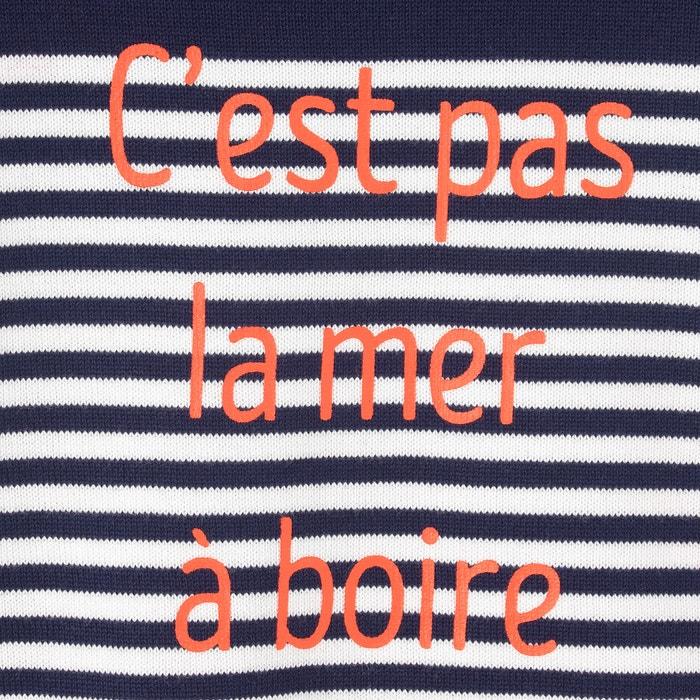 Image Pull col rond esprit marinière 3-12 ans La Redoute Collections