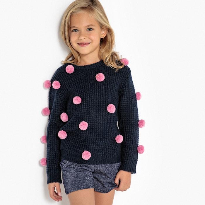 Pull maglia fine con pompons 3 - 12 anni  La Redoute Collections image 0