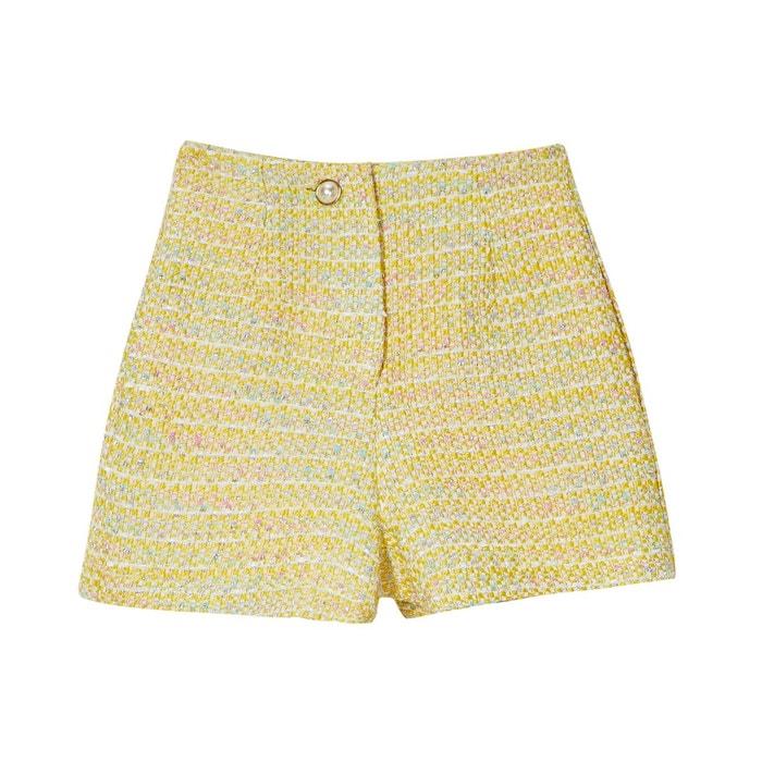 d8705cf183 Short en tweed jaune Sister Jane   La Redoute