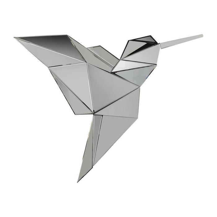 Miroir Origami Kolibri 124x100cm Kare Design Gris Kare