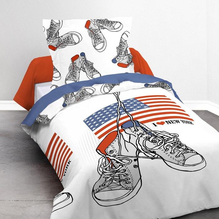 parure de lit enfant basket coton 57 fils blanc i fil home la redoute. Black Bedroom Furniture Sets. Home Design Ideas