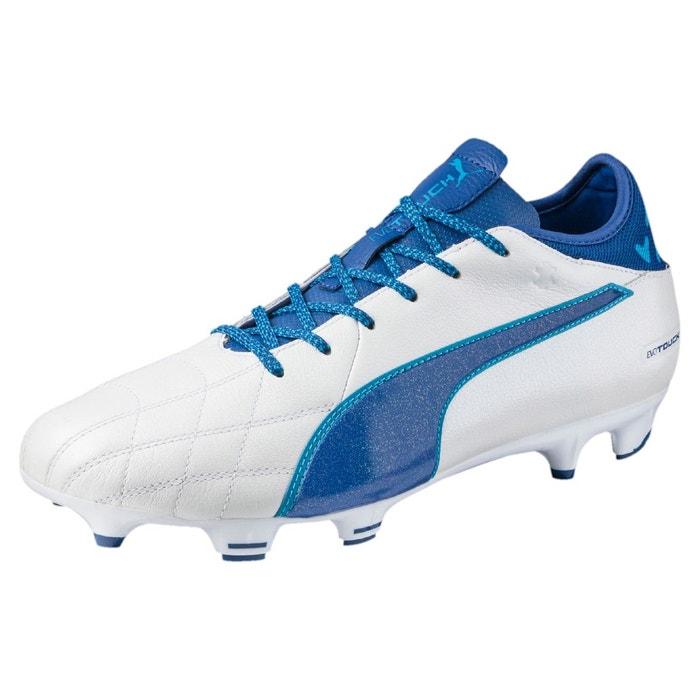Chaussure de foot evotouch 3 en cuir fg pour homme puma white-true blue-blue danube Puma