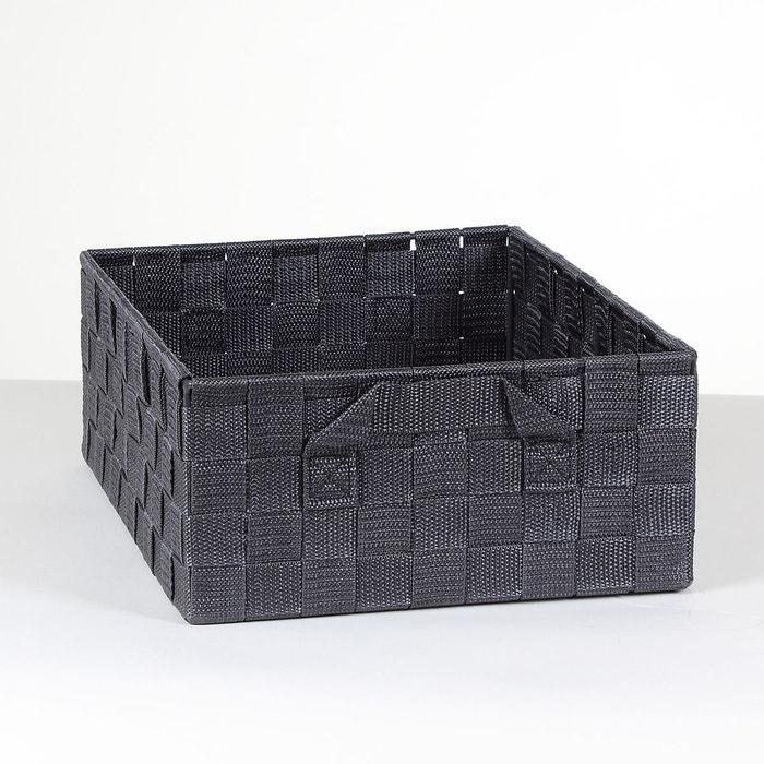 panier gris avec sangles moyen mod le noir calicosy la. Black Bedroom Furniture Sets. Home Design Ideas
