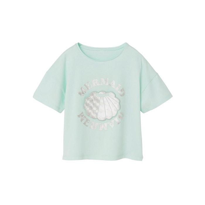 T-shirt fille motif sirène surprise