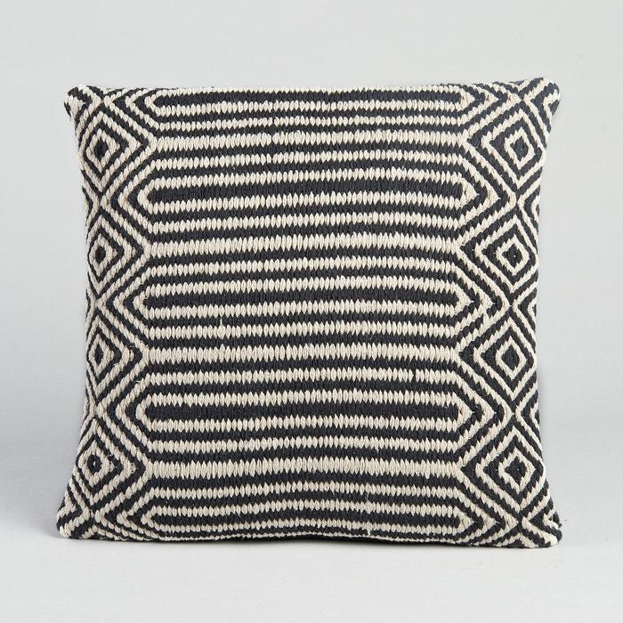 housse de coussin kilim pa en am pm noir blanc la redoute. Black Bedroom Furniture Sets. Home Design Ideas
