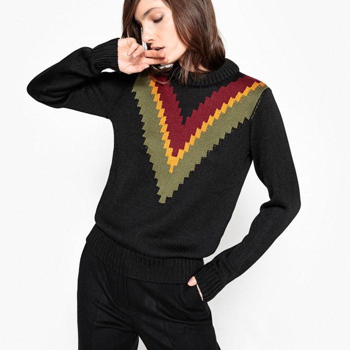 Image Pull con scollo rotondo in maglia sottile JOUR NÉ X LA REDOUTE MADAME