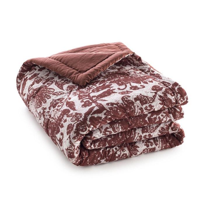 boutis voile de coton block print eridelle bordeaux am pm la redoute. Black Bedroom Furniture Sets. Home Design Ideas