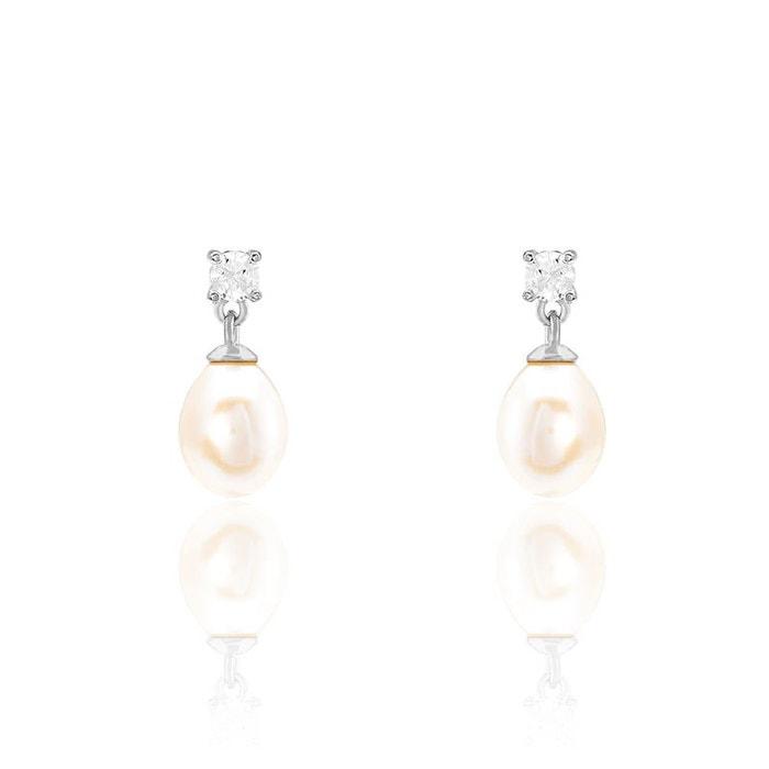 Boucles D Oreilles Argent Perle Culture Blanc Histoire D Or La Redoute