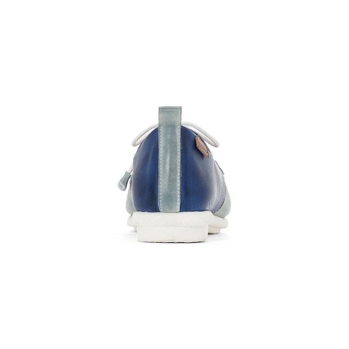 Derbies cuir calabria w9k bleu ciel / bleu marine Pikolinos
