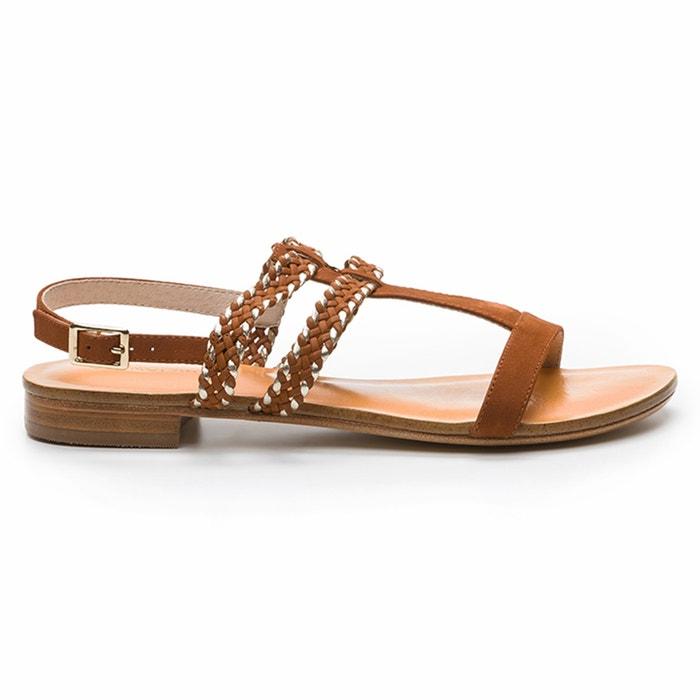 Hessia Flat Leather Sandals  COSMOPARIS image 0