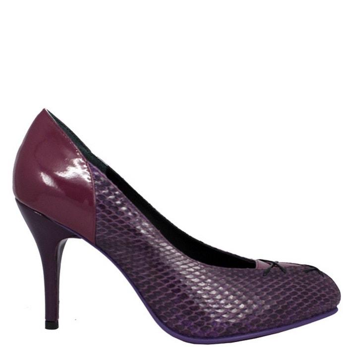 femme en Chaussures Violet PARIS PRING LEIDA cuir wHZWEPqF