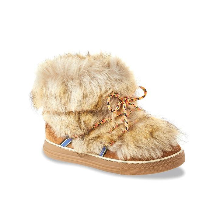 Boots fourrées calypso camel Les Tropeziennes Par M Belarbi