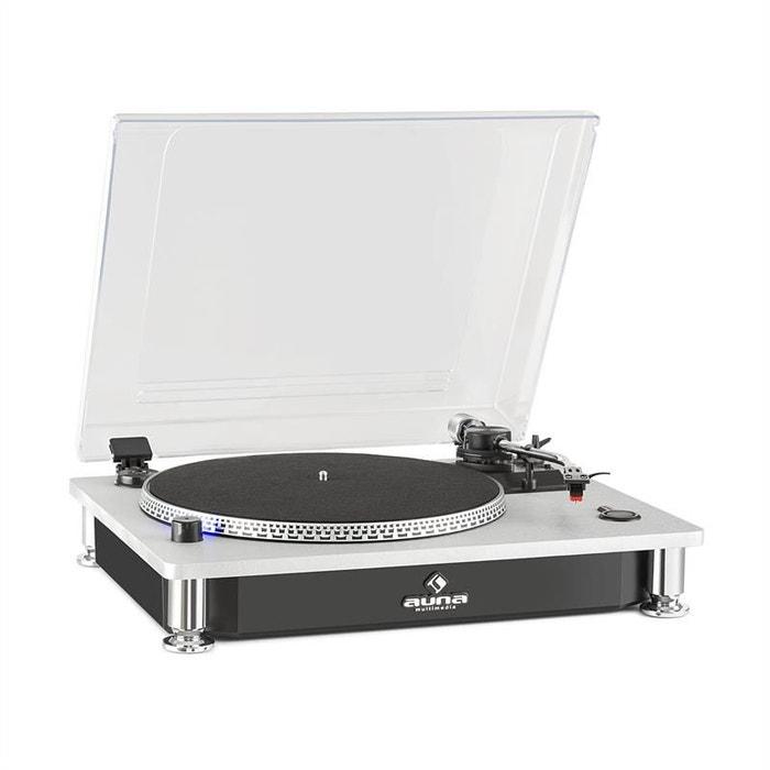 auna tt 933 platine vinyle tourne disque 33t 45t bras en s noir argent auna la redoute. Black Bedroom Furniture Sets. Home Design Ideas