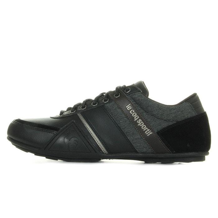 Baskets homme andelot s lea 2 tones noir, gris Le Coq Sportif