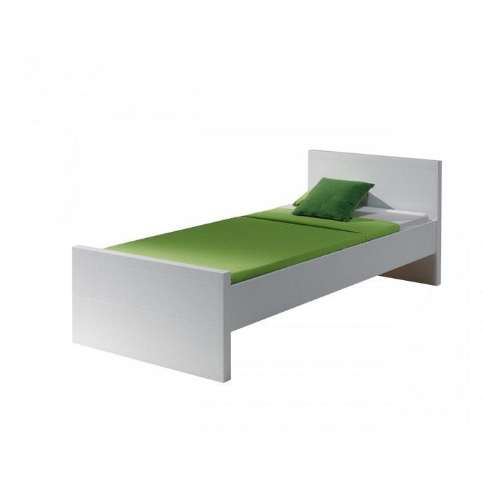 lit enfant 90x200 blanc laqu lt2007 blanc terre de nuit. Black Bedroom Furniture Sets. Home Design Ideas