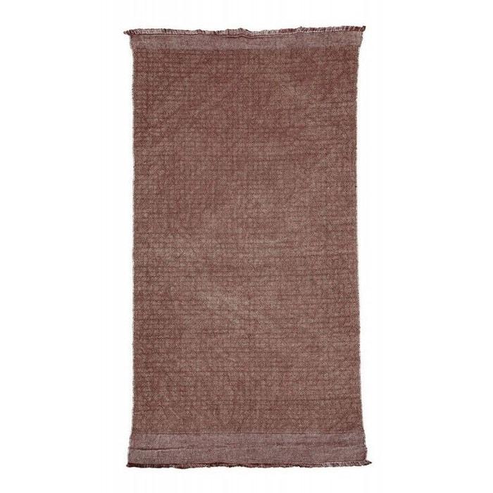 tapis coton jute house doctor shander burnt henna 90 x 200 cm rouge bordeaux house doctor la. Black Bedroom Furniture Sets. Home Design Ideas