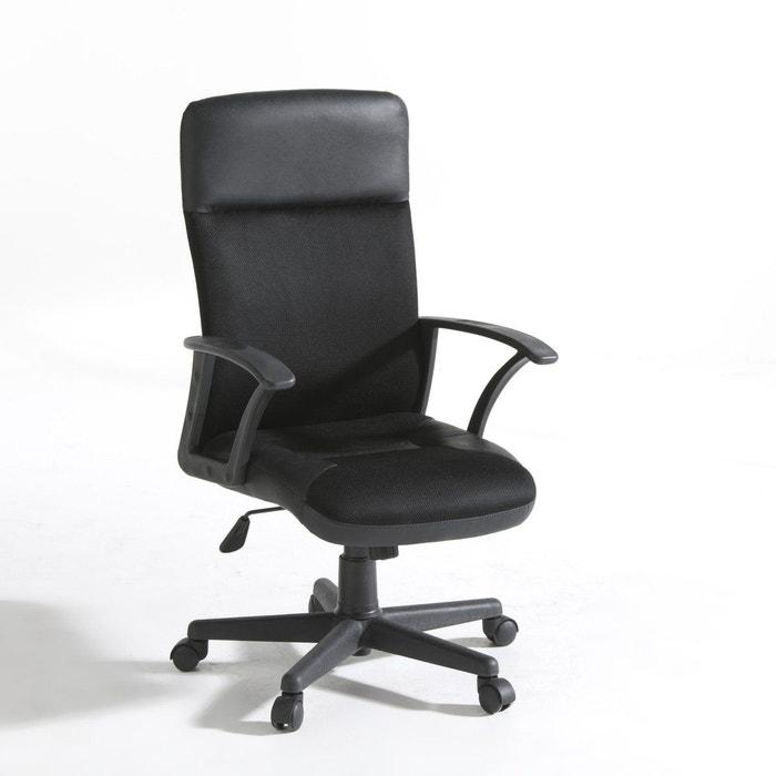 Fauteuil de bureau roulettes azzo noir la redoute - Roulette de chaise de bureau ...