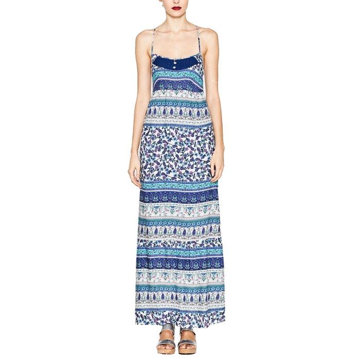 afbeelding Bedrukte lange jurk met smalle schouderbandjes ESPRIT