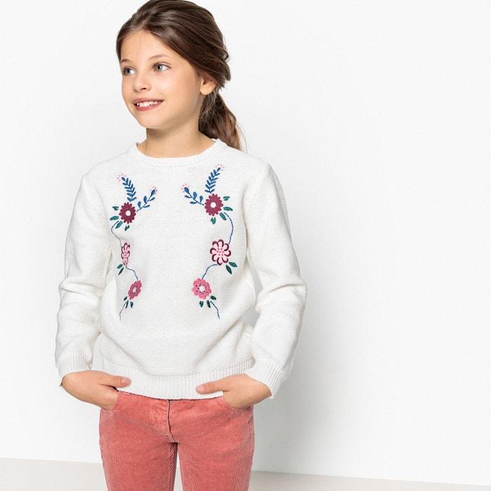 Пуловер из тонкого трикотажа с вышивкой, 3-12 лет  La Redoute Collections image 0