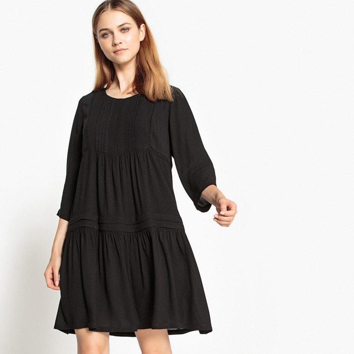 afbeelding Korte effen jurk met 3/4 mouwen SEE U SOON