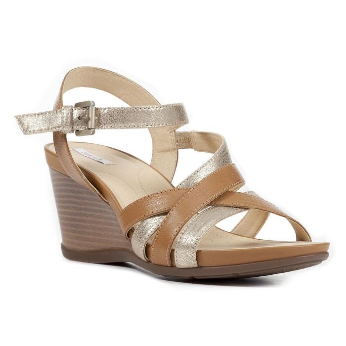 Sandales compensées d dorotha c taupe Geox