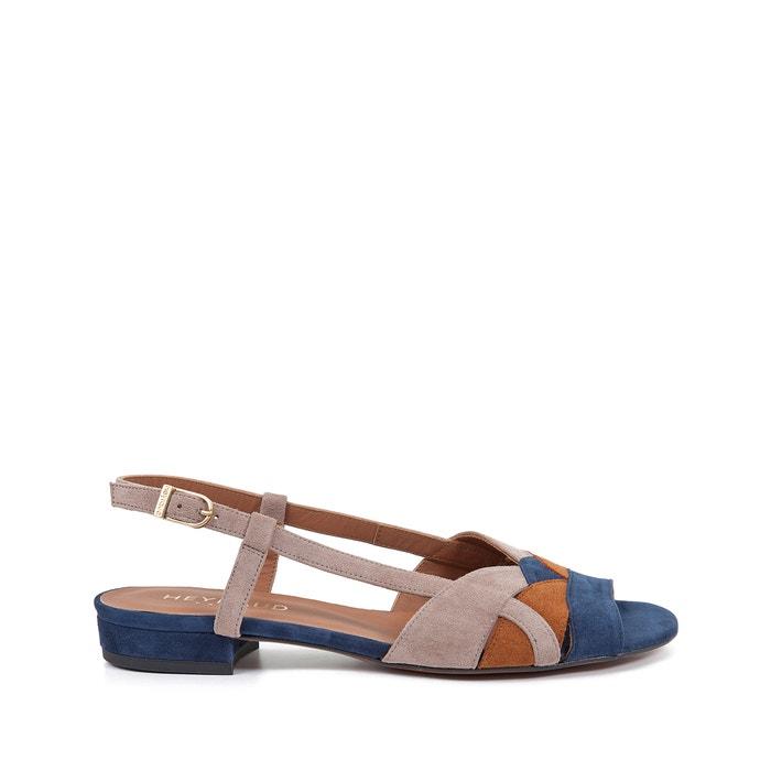 afbeelding Platte sandalen in fluweelleer Edna HEYRAUD