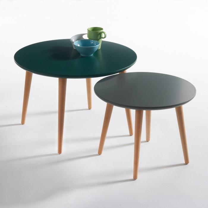 table basse gigogne jimi lot de 2 vert la redoute interieurs la redoute. Black Bedroom Furniture Sets. Home Design Ideas