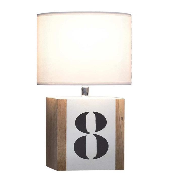 Lampe De Chevet En Bois Blanche Brick S Blanc L34 La Redoute