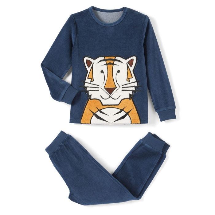 Pyjama velours 3-12 ans