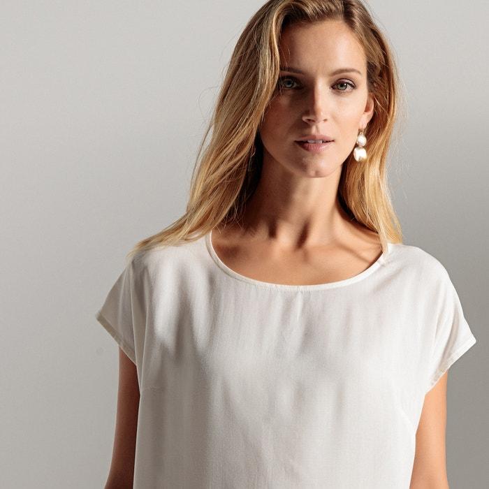 250;nica WEYBURN tejido y recta ANNE cuello redondo vaporoso T EdwT0wq