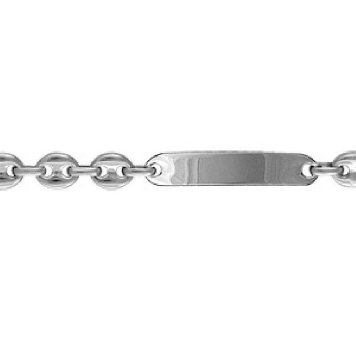 Bracelet 21 cm identité gourmette grain de café largeur 9,5 mm acier inoxydable couleur unique So Chic Bijoux | La Redoute