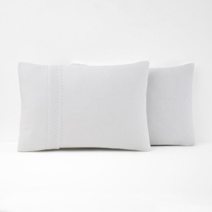 DENTELLE Lace Cotton Pillowcase  La Redoute Interieurs image 0