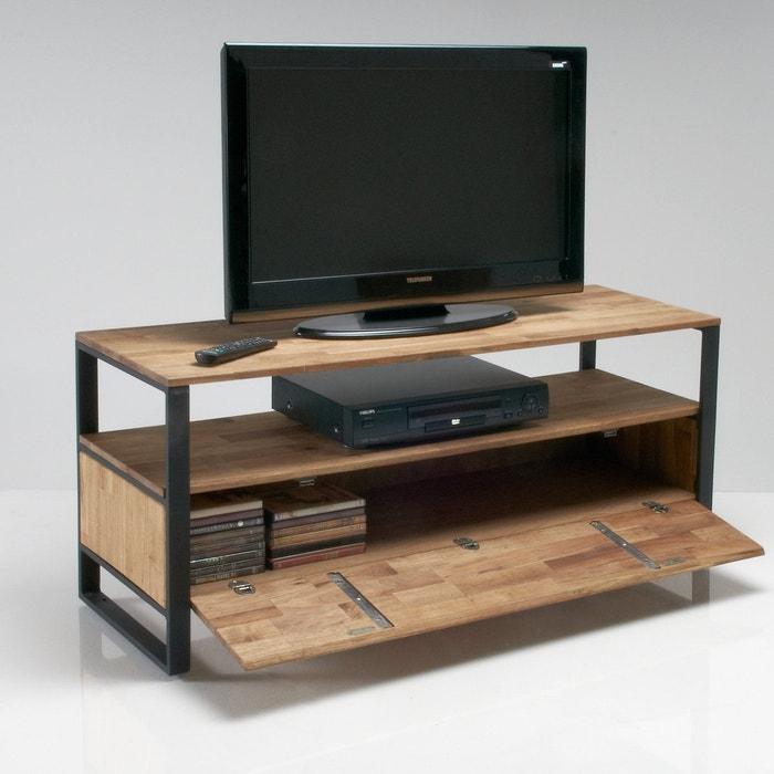 hiba solid walnut tv unit light natural wood la redoute interieurs la redoute. Black Bedroom Furniture Sets. Home Design Ideas