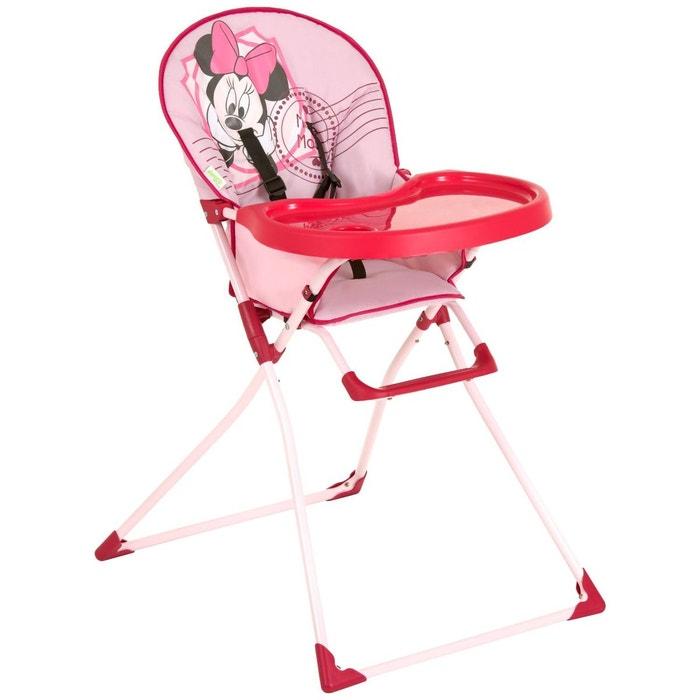 chaise haute mac baby minnie mouse disney rose hauck la redoute. Black Bedroom Furniture Sets. Home Design Ideas