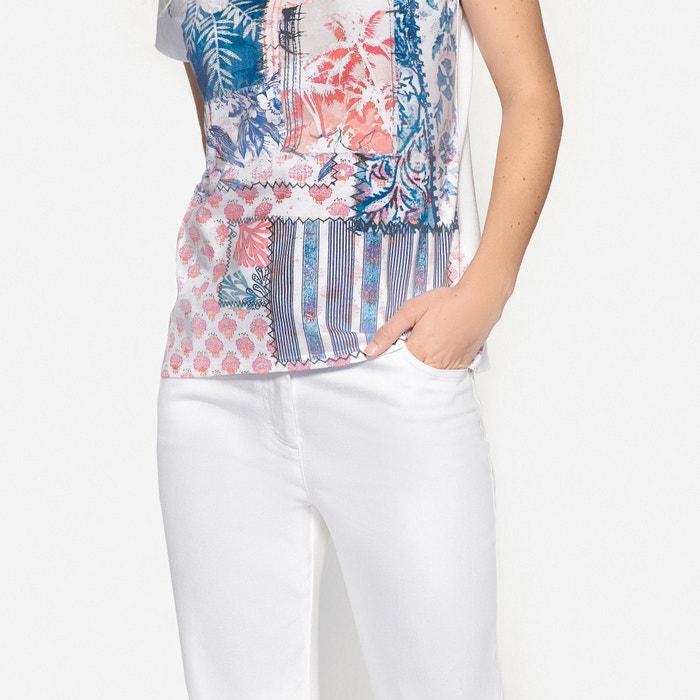 manga WEYBURN con ANNE estampada redondo larga y cuello Camiseta PqxwF