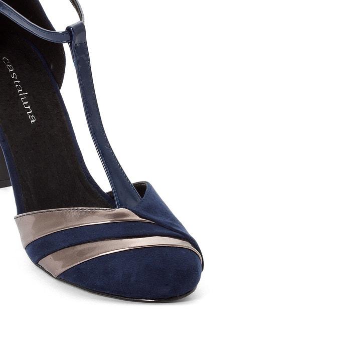 vaste digne barre en t talons, taille 38 45, bleu bleu bleu marine , castaluna | Soldes  dcf032
