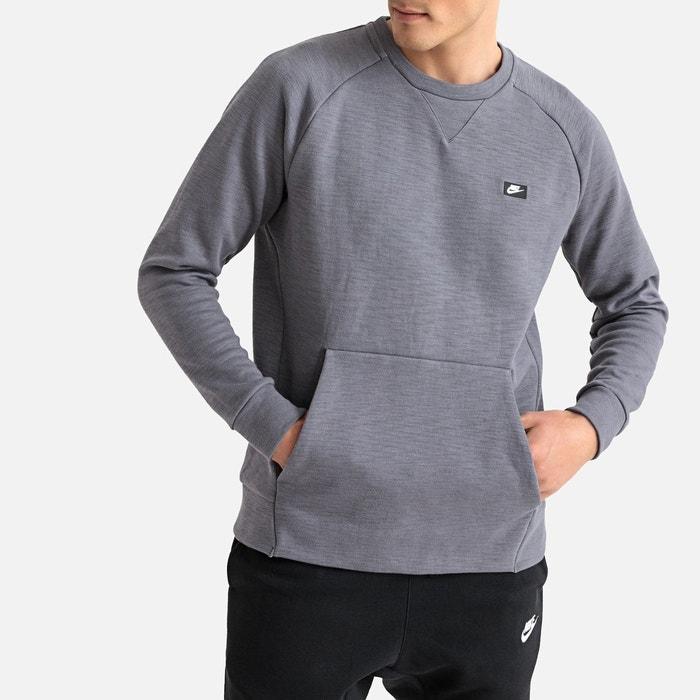 check out b22b6 ada8d Sweat col rond optic fleece gris Nike   La Redoute