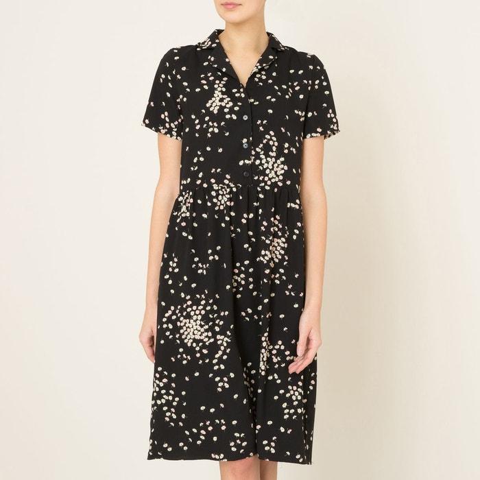 robe abbesse imprim noir la brand boutique collection la redoute. Black Bedroom Furniture Sets. Home Design Ideas