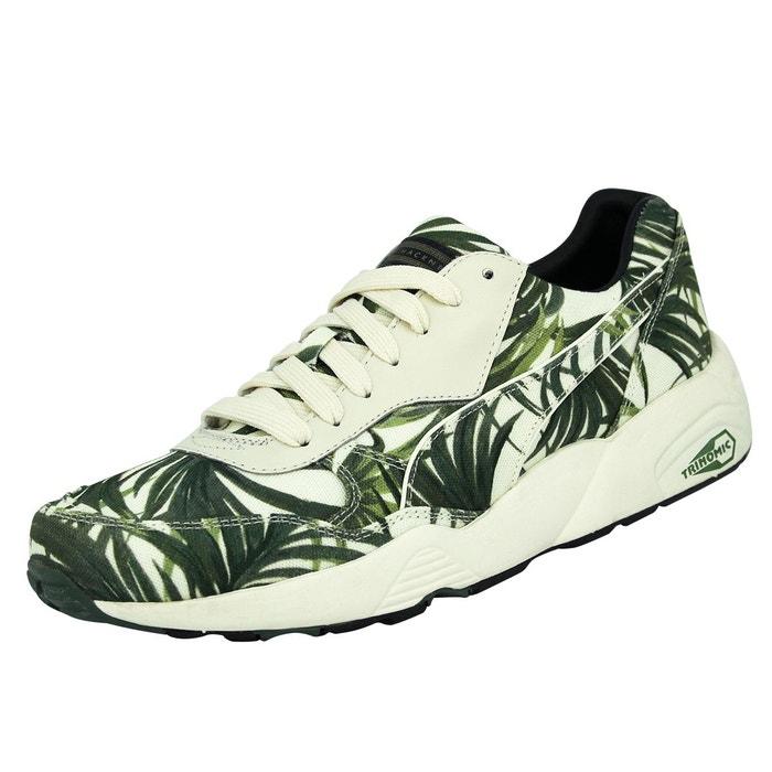 mode chaussures homme Puma palm x evo hoh blanc sneakers r698 vert KTl1cFJ