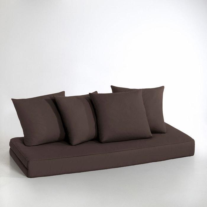 matelas et coussins pour banquette giada marron chocolat la redoute interieurs la redoute. Black Bedroom Furniture Sets. Home Design Ideas