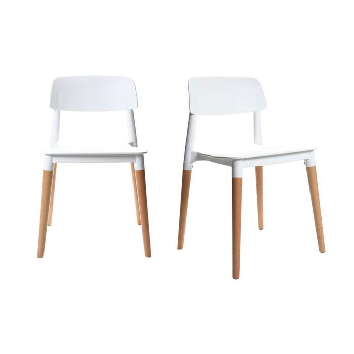 Lot de deux chaises design scandinave gilda miliboo la redoute - Chaise scandinave la redoute ...