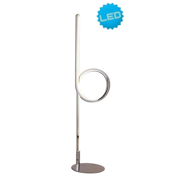 Design Lampe Argentée Led Et Loop En Métal Acrylique oWEQdCBerx
