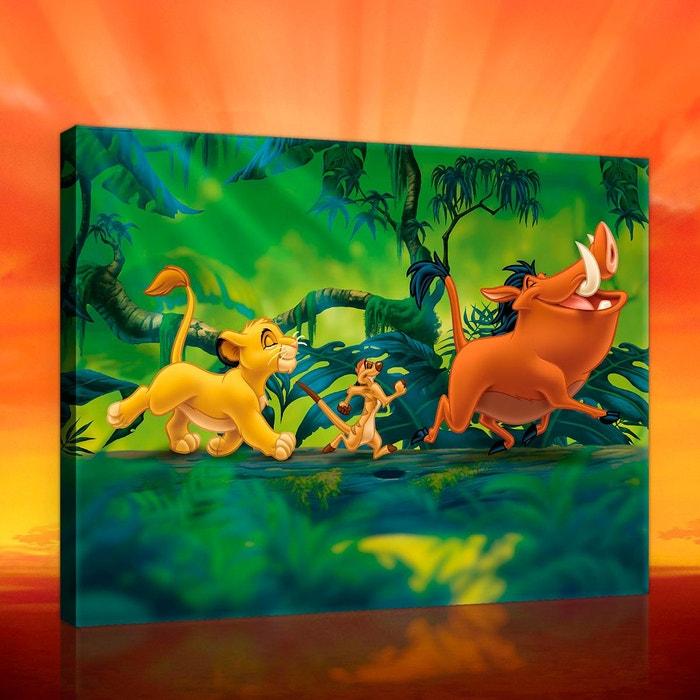 tableau simba pumba timon le roi lion disney 40 x 60 cm orange vert walltastic la redoute. Black Bedroom Furniture Sets. Home Design Ideas