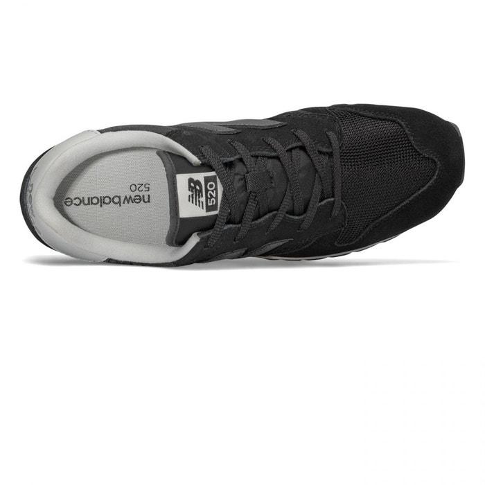 Chaussures u520 suede mesh black noir New Balance