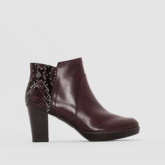 Image Dual Fabric High-Heeled Boots TAMARIS